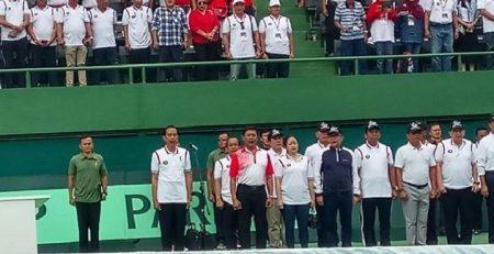 Jokowi Resmikan Arena Tennis GBK.