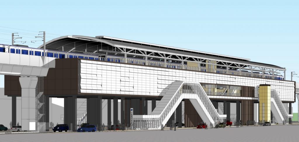 Ilustrasi Stasiun MRT Cipete Raya.