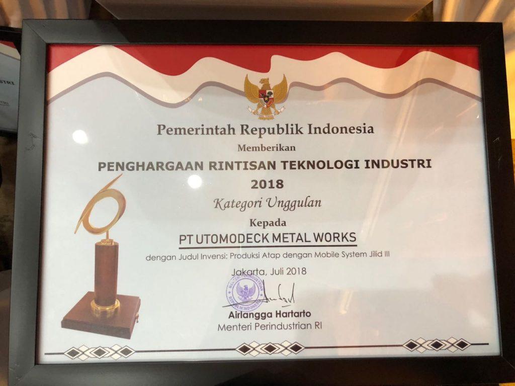 Penghargaan Rintisan Teknologi Industri 2018