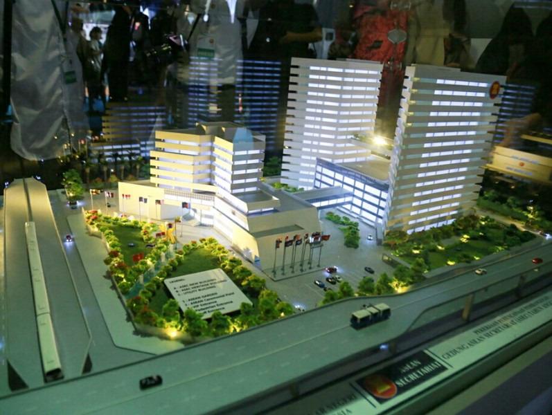 Maket Gedung Baru Sekretariat ASEAN.