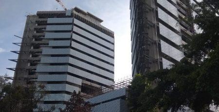 Gedung Baru Sekretariat ASEAN Dalam Pembangunan. Sumber : Dokumentasi Proyek PT. Utomodeck Metal Works